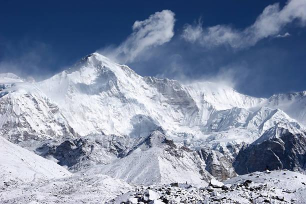 Cho Oyu, 6th 가장 높은 세계, Himalaya 스톡 사진