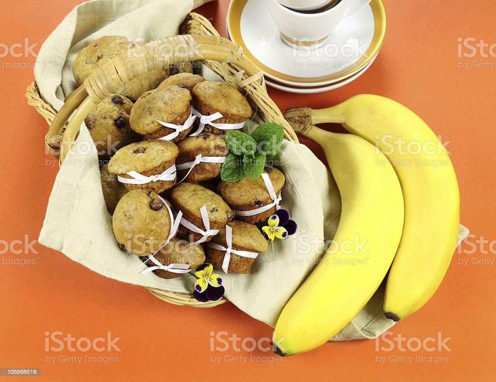 Choc Chip Muffins royalty-free stock photo