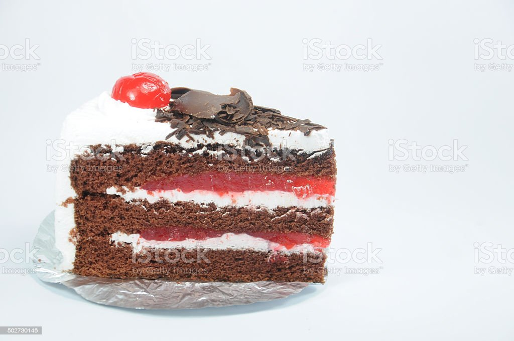 Choccolate black forest cake and cherry