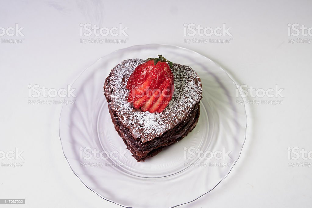 Choclate Brownie Heart royalty-free stock photo