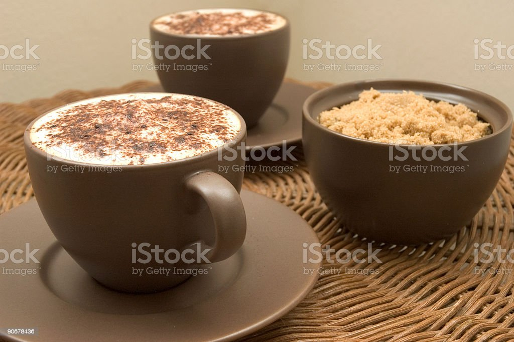Choclate Topped Cappuccino royalty-free stock photo