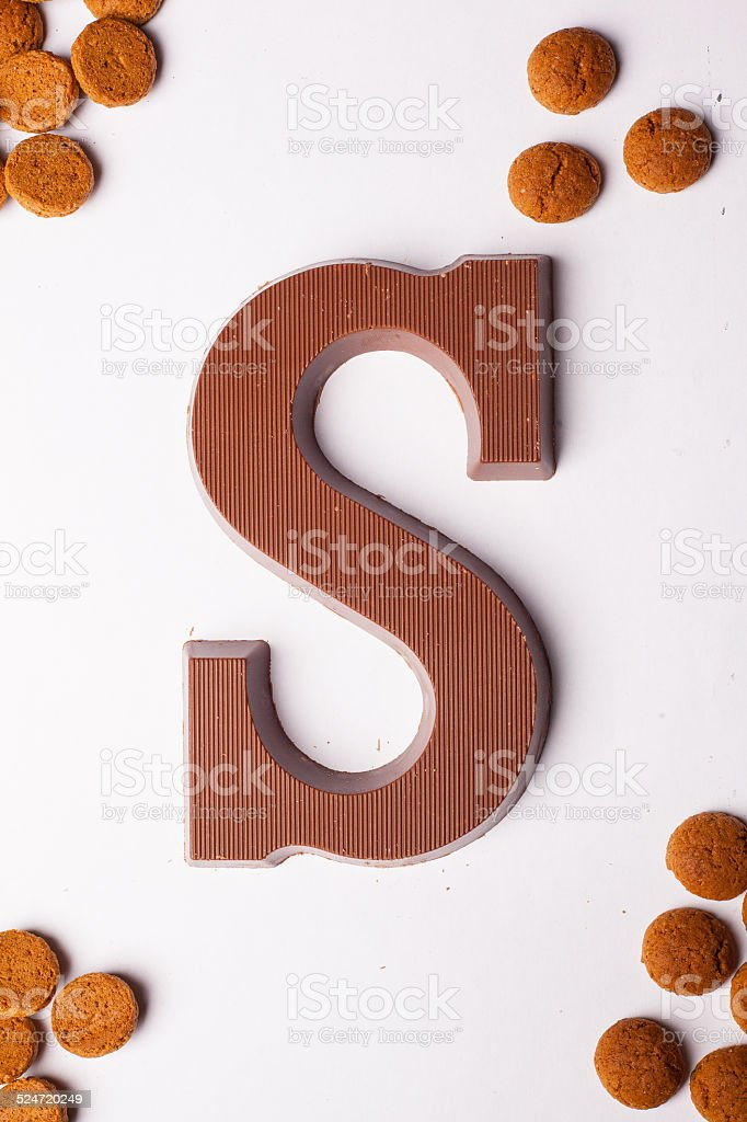chocolade letter S stock photo