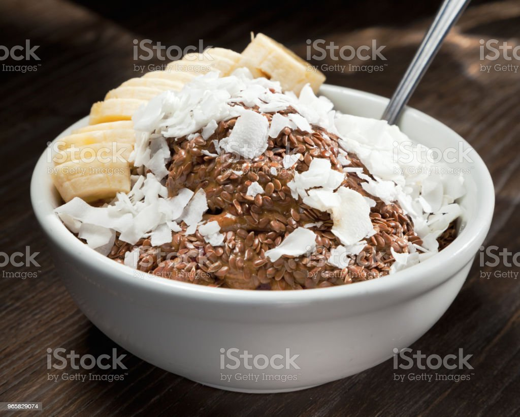 Chocolate Acai Bowl - Royalty-free Acai Stock Photo
