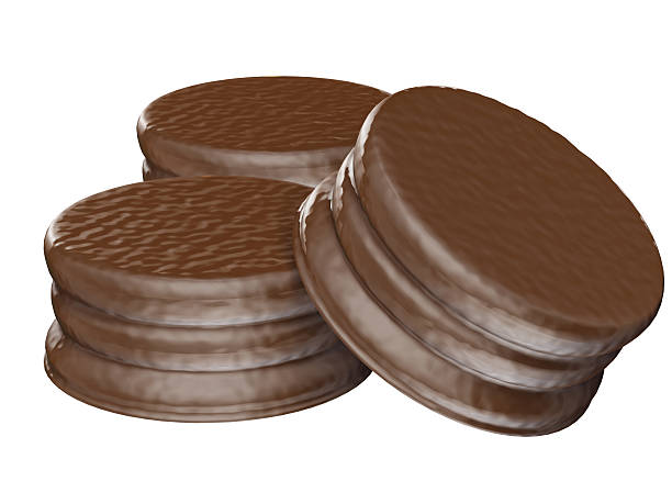 Alfajores de chocolate - foto de stock