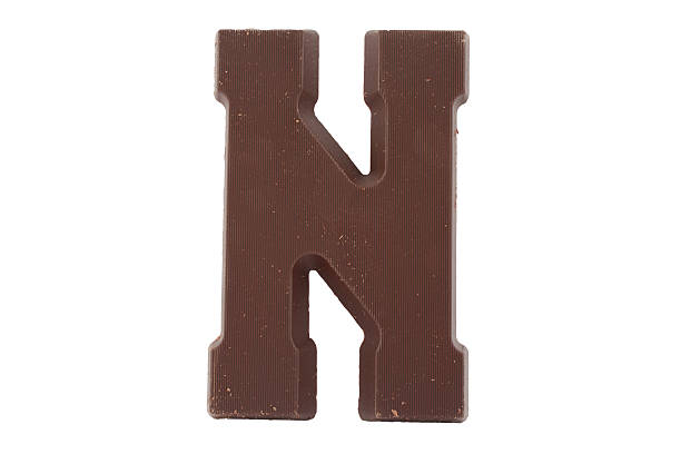 Schokolade alphabet-Buchstabe N – Foto