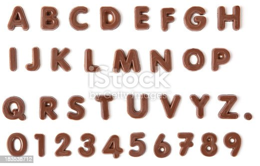 istock Chocolate Alphabet with clipping path 183538712