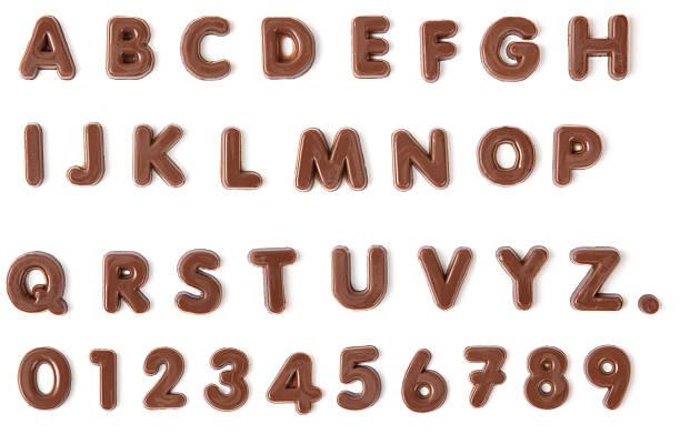 チョコレートのアルファベット、クリッピングパス ストックフォト