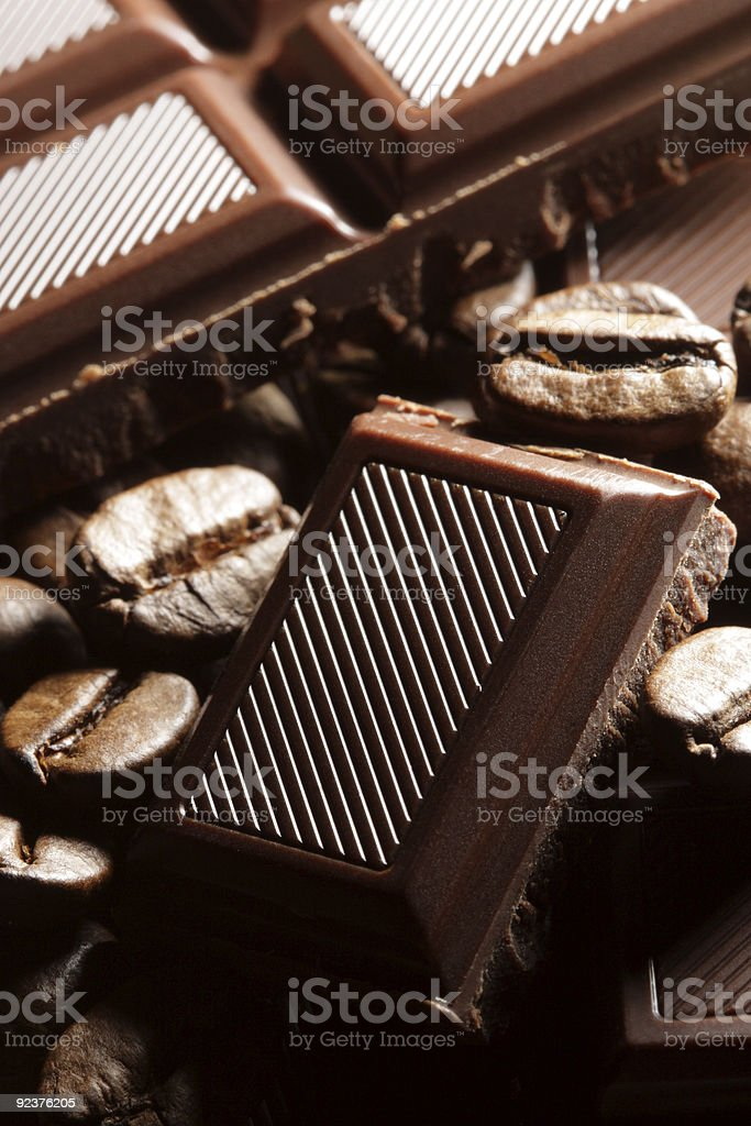 Chocolate and coffee royalty-free stock photo