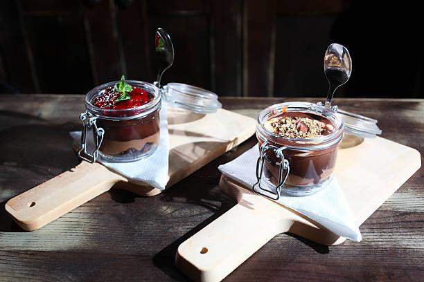 Chocolate and Fruit Cake stock photo