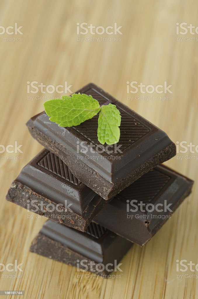 chocolate and mint royalty-free stock photo