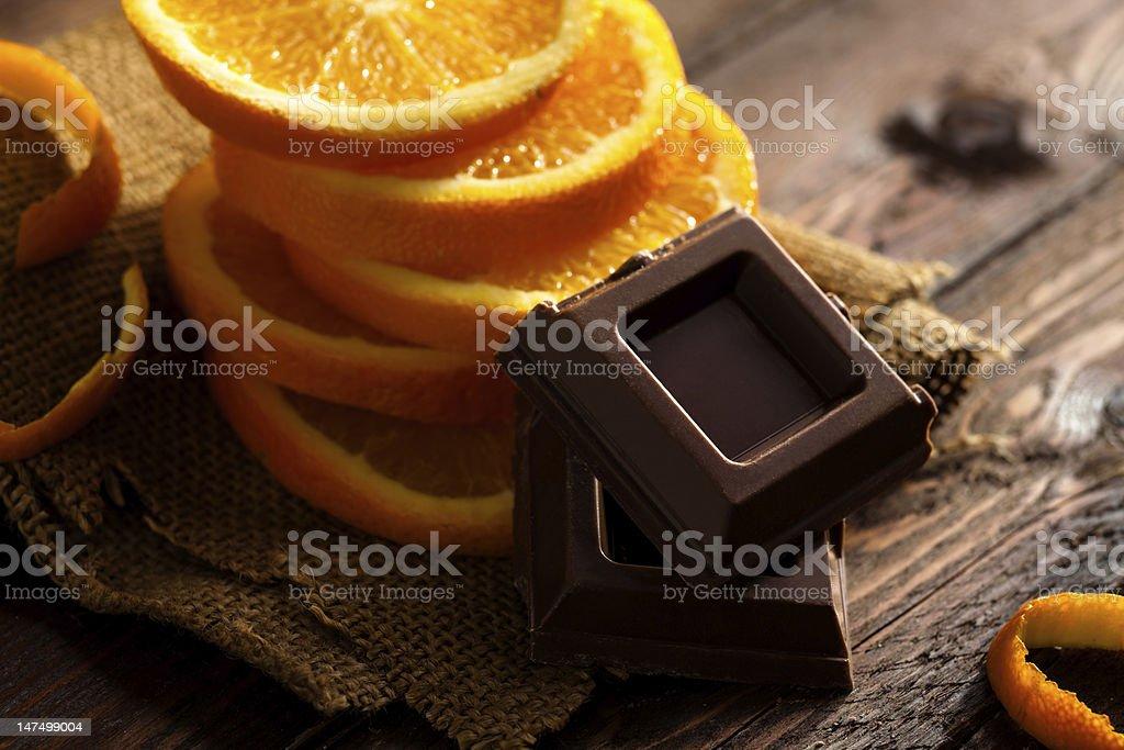 Chocolate and Orange stock photo