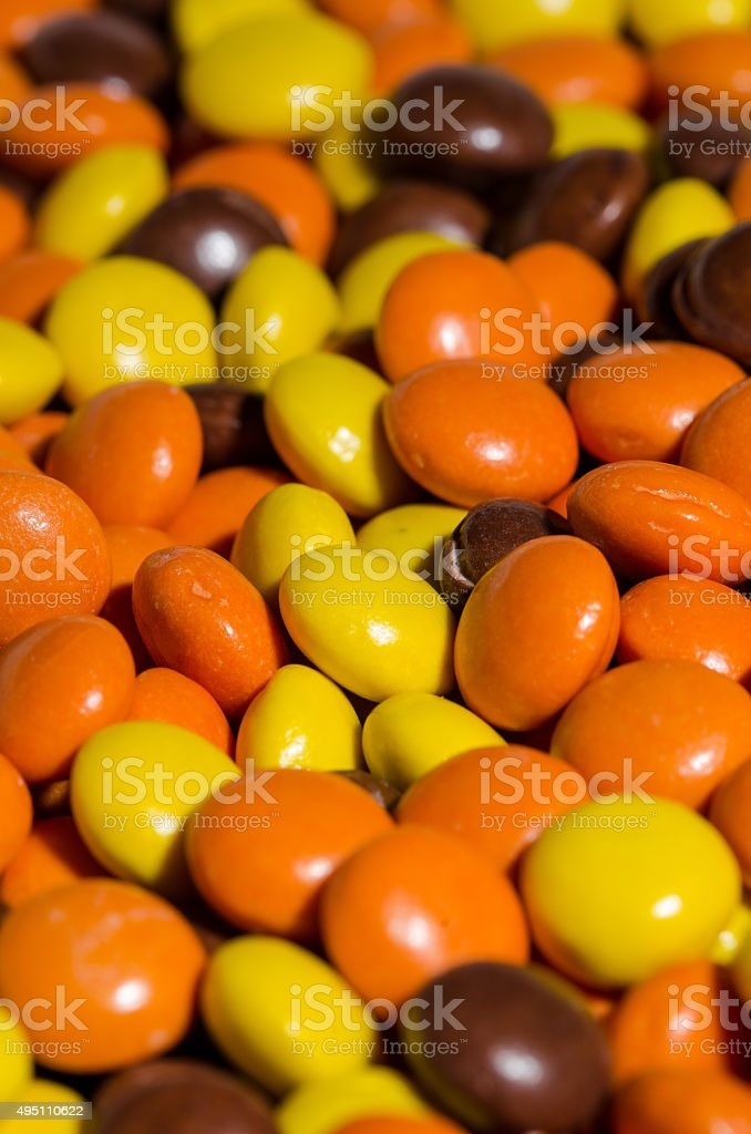 Chocolate and peanut butter candy stock photo