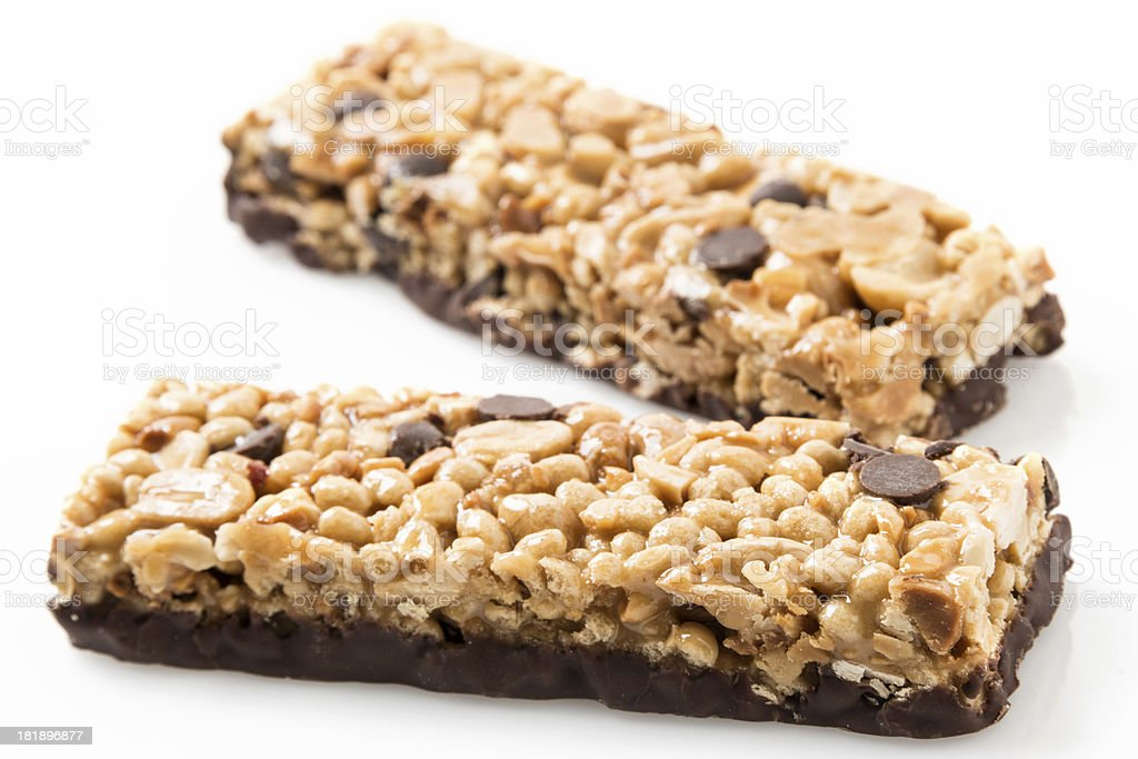 Chocolate and peanut butter energy bar royalty-free stock photo