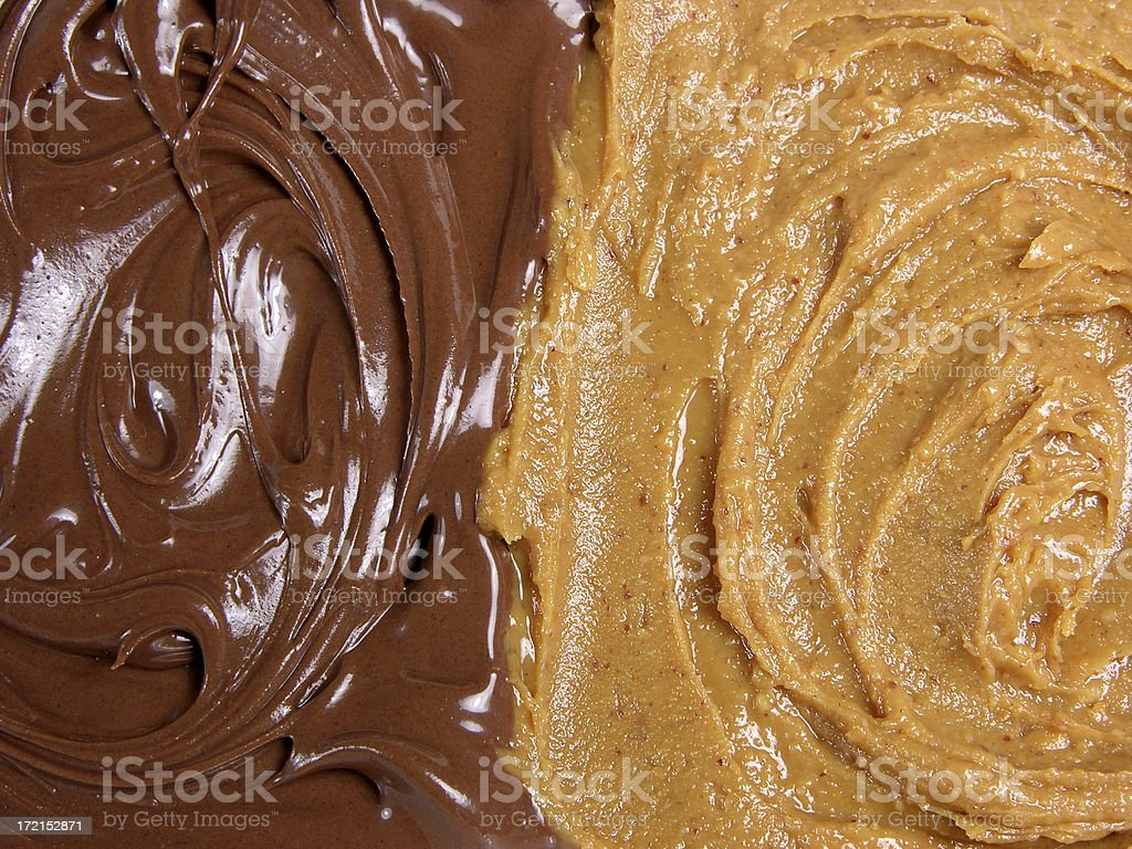 Chocolate and peanut butter stock photo