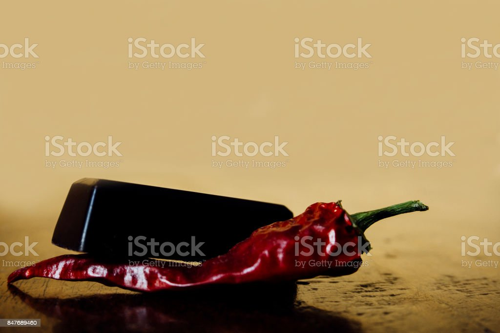 Chocolate and Pepper stock photo
