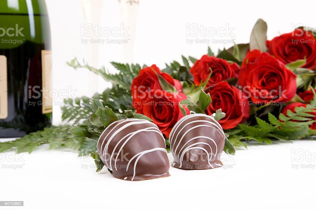 Chocolate and Romance royalty-free stock photo