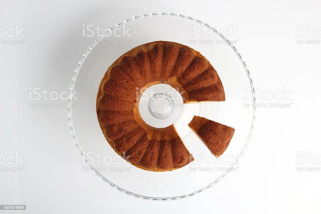 Chocolate and Vanilla Marble Cake stock photo