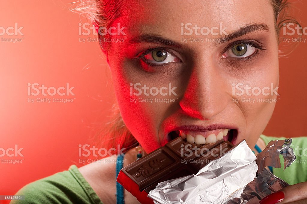 chocolate and women royalty-free stock photo