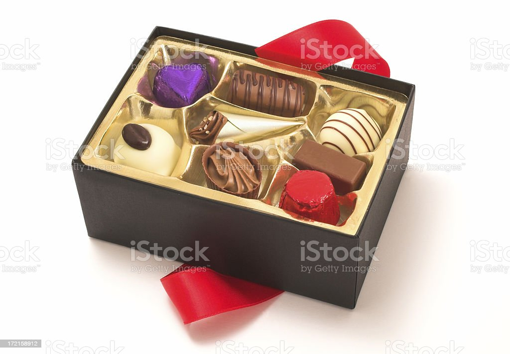 chocolate assortment royalty-free stock photo