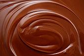 Chocolate background. Melted chocolate. Chocolate swirl.