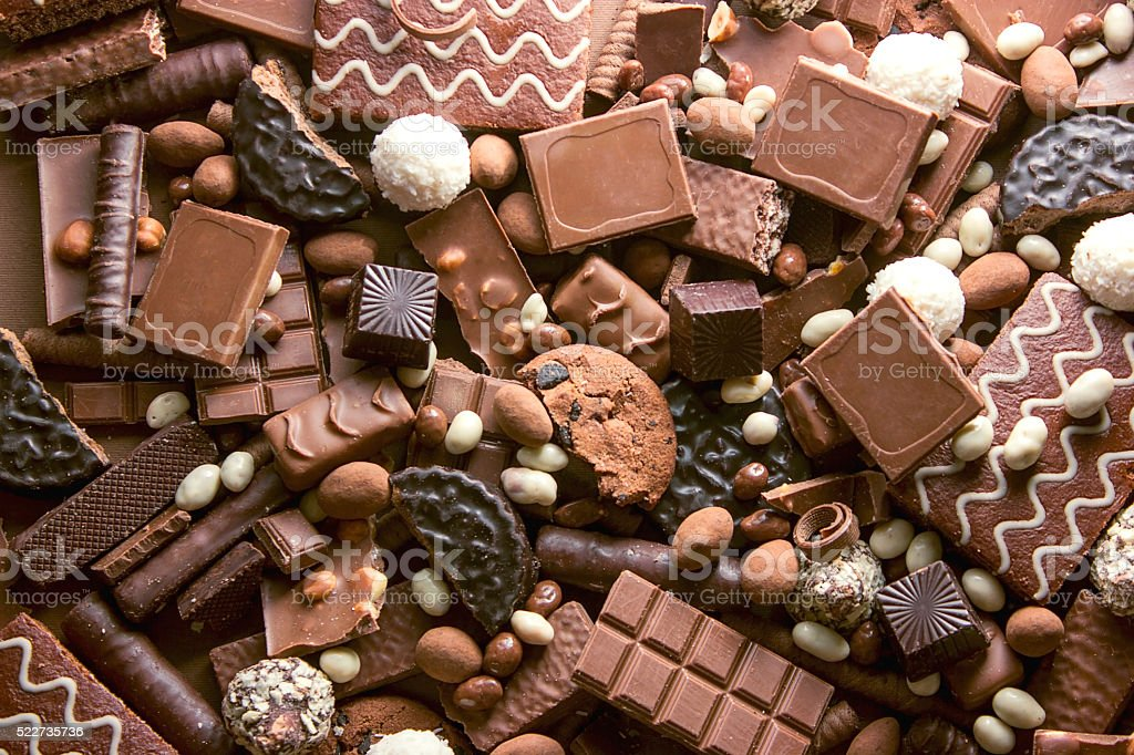Fondo de Chocolate - foto de stock