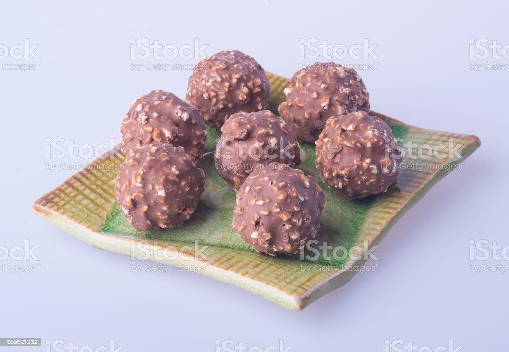 chocolate ball stock photo