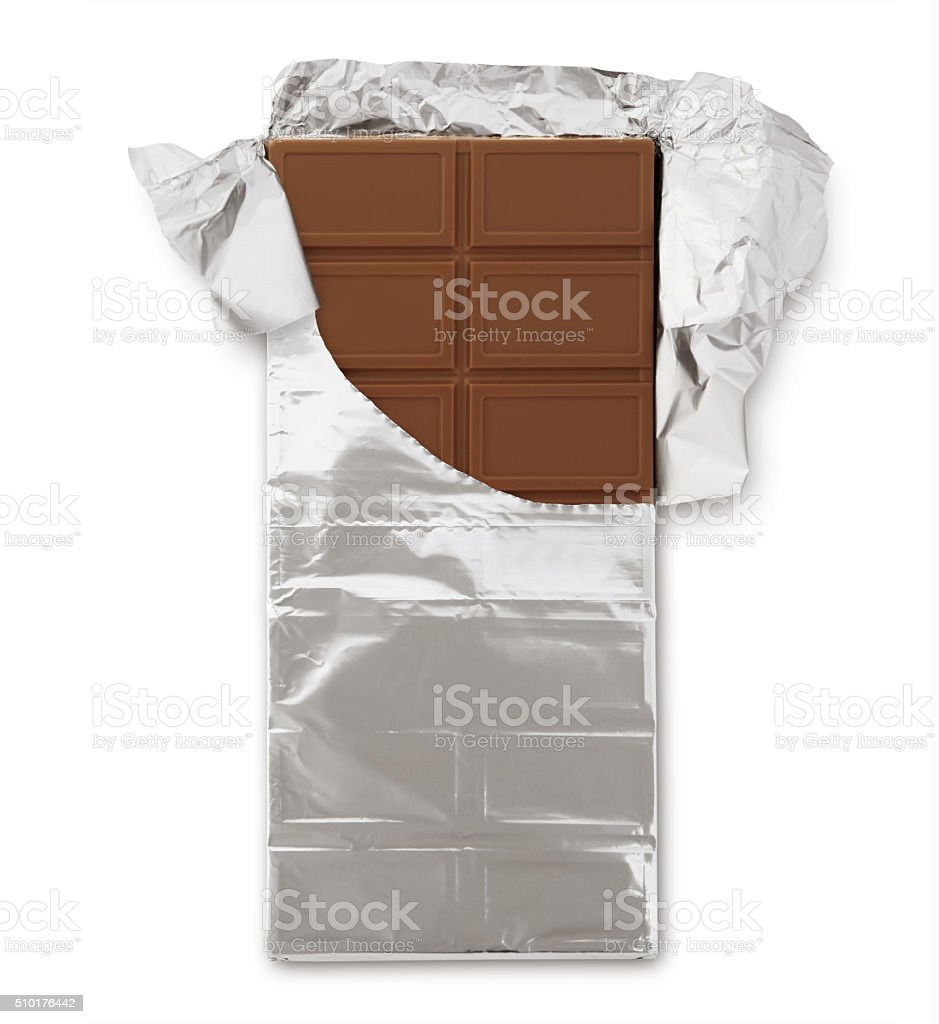 Barra de Chocolate (con ruta - foto de stock