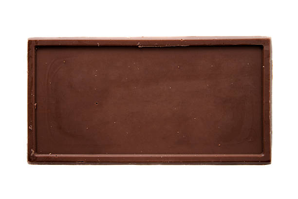 Chocolate bar top view stock photo