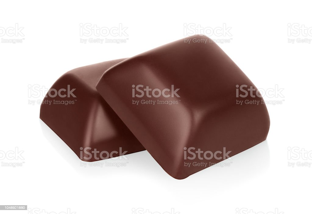 Schokolade bars isoliert auf weißem Hintergrund – Foto