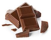 チョコレートバーで分離白背景