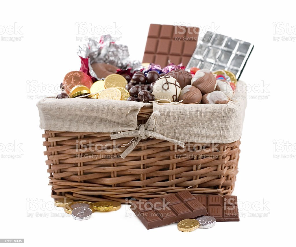 Chocolate Basket royalty-free stock photo
