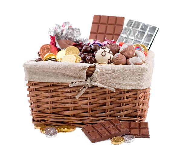 Chocolate Basket stock photo