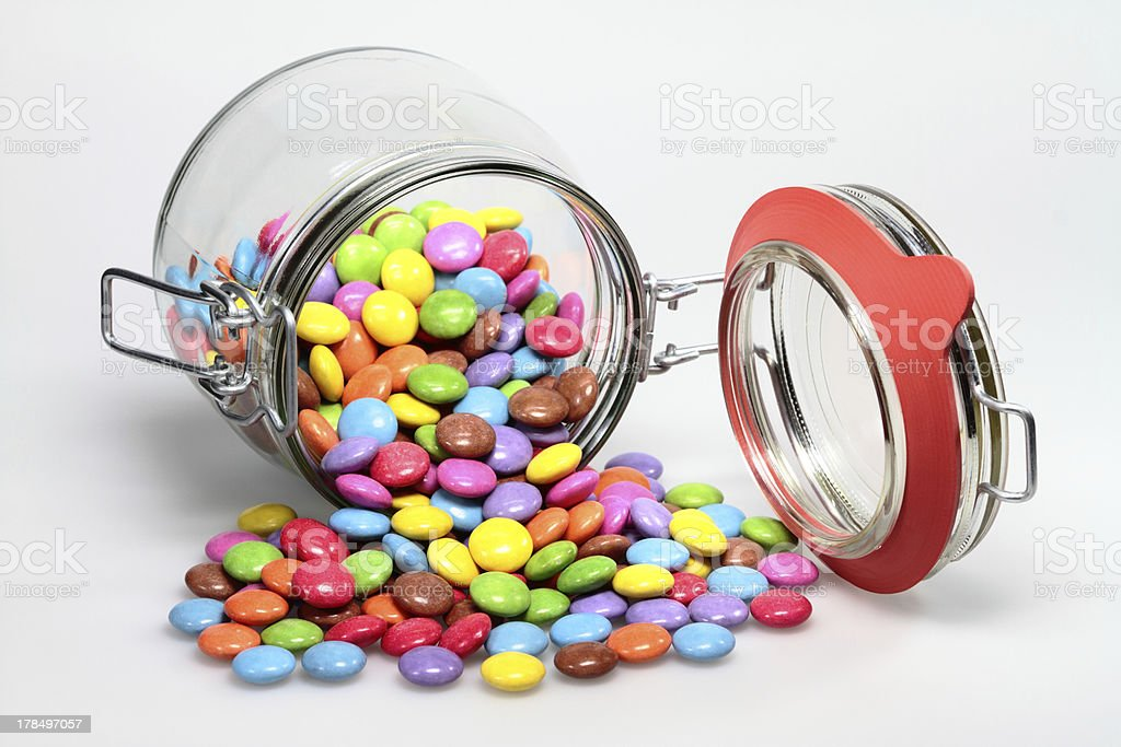 chocolate beans stock photo