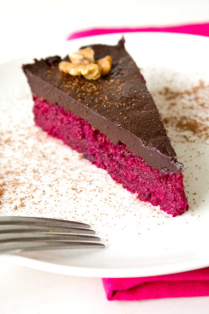 Chocolate Beetroot Cake stock photo