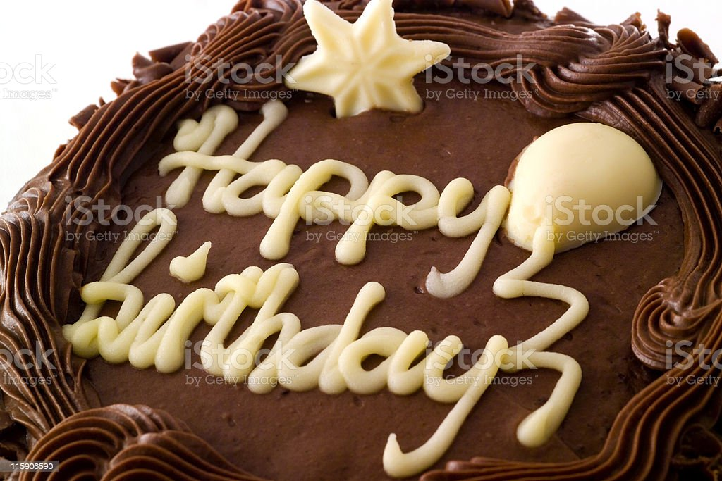 Chocolate Birthday Cake royalty-free stock photo