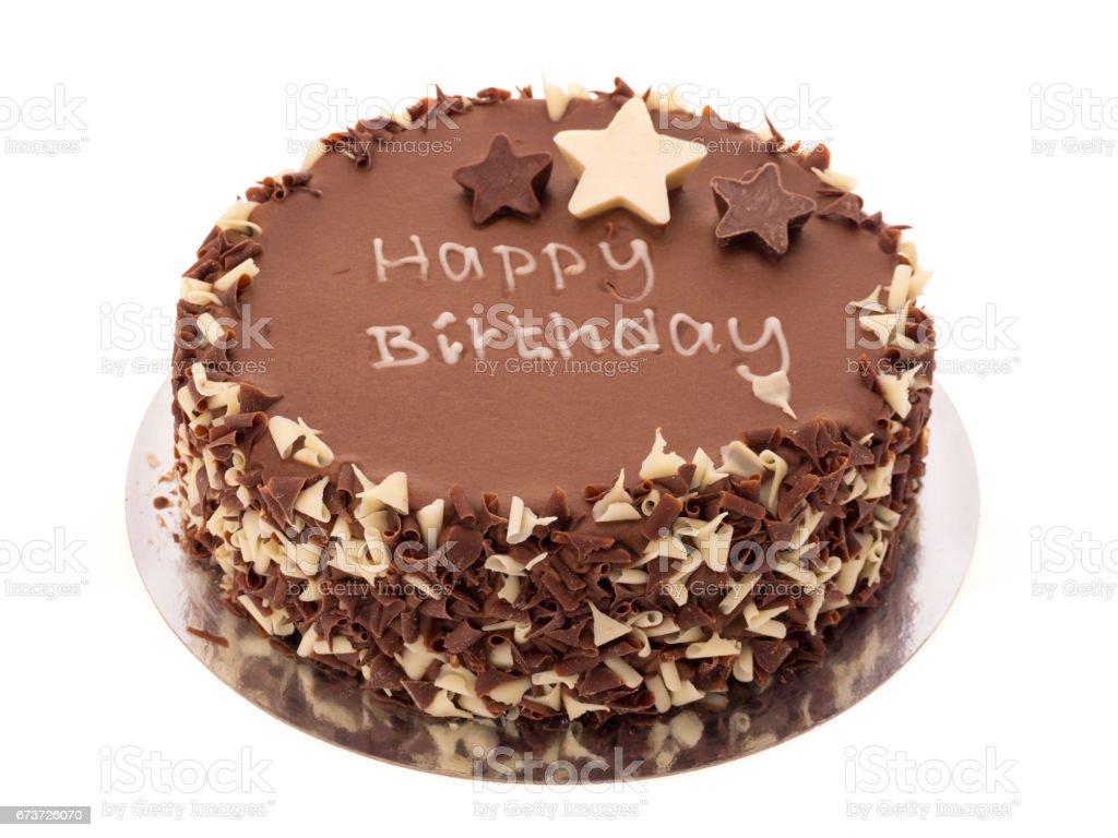 Chocolate birthday cake photo libre de droits