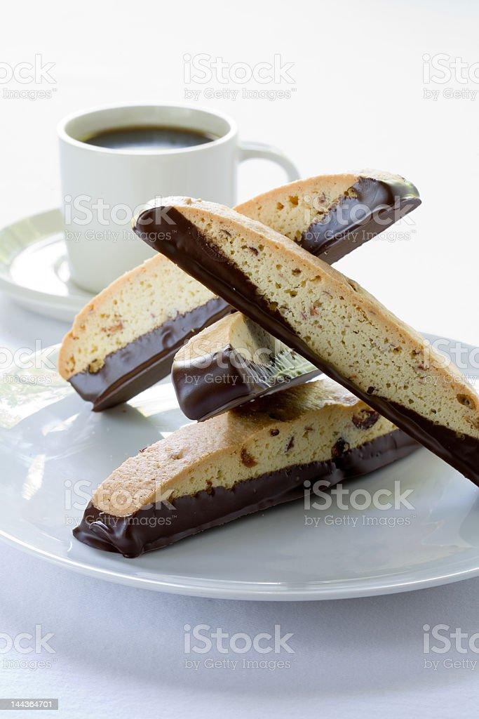 chocolate biscotti royalty-free stock photo