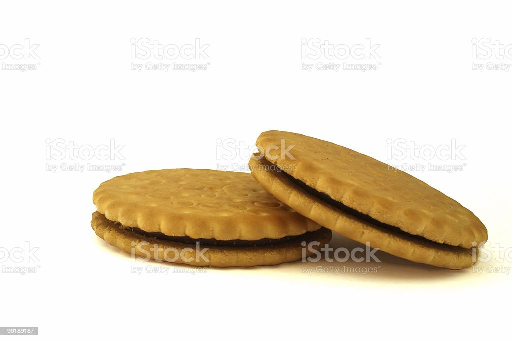 Chocolate biscuits 2 royalty-free stock photo