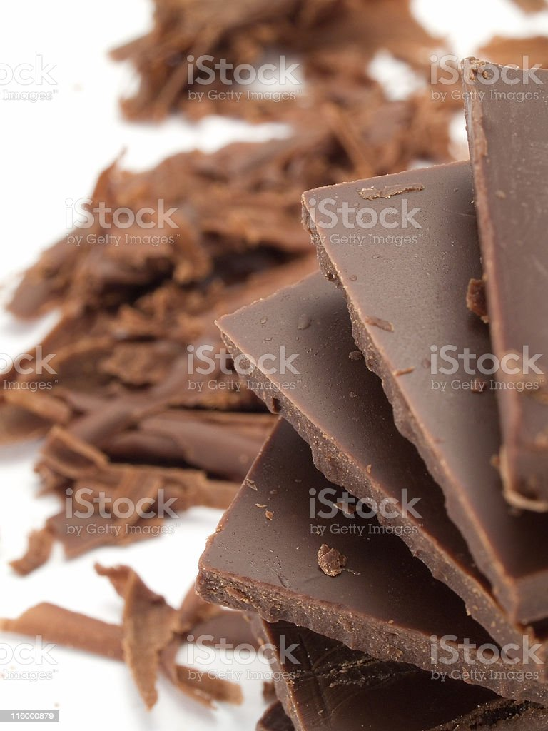 Chocolate blocks royalty-free stock photo