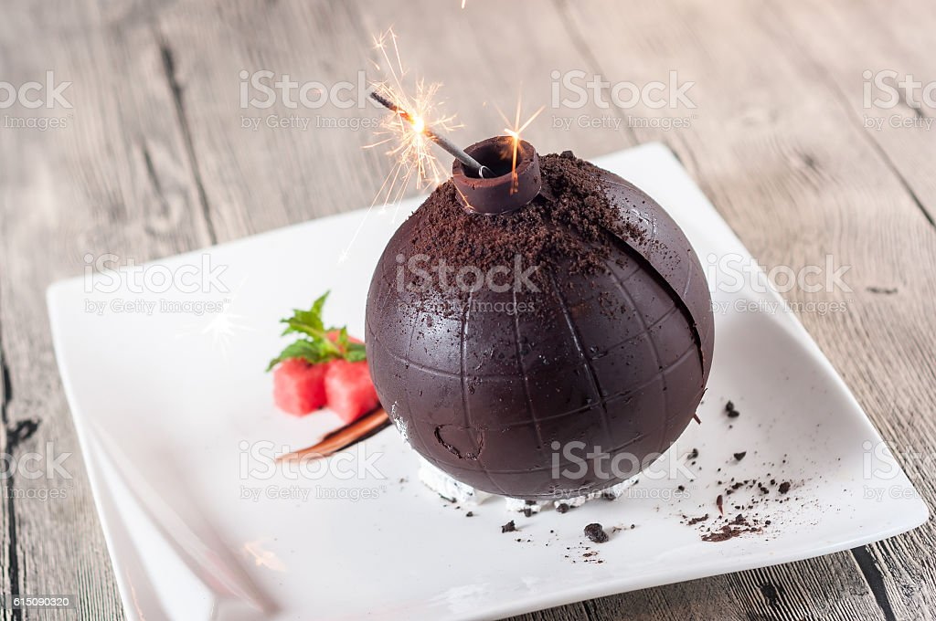 Chocolate bomb stock photo