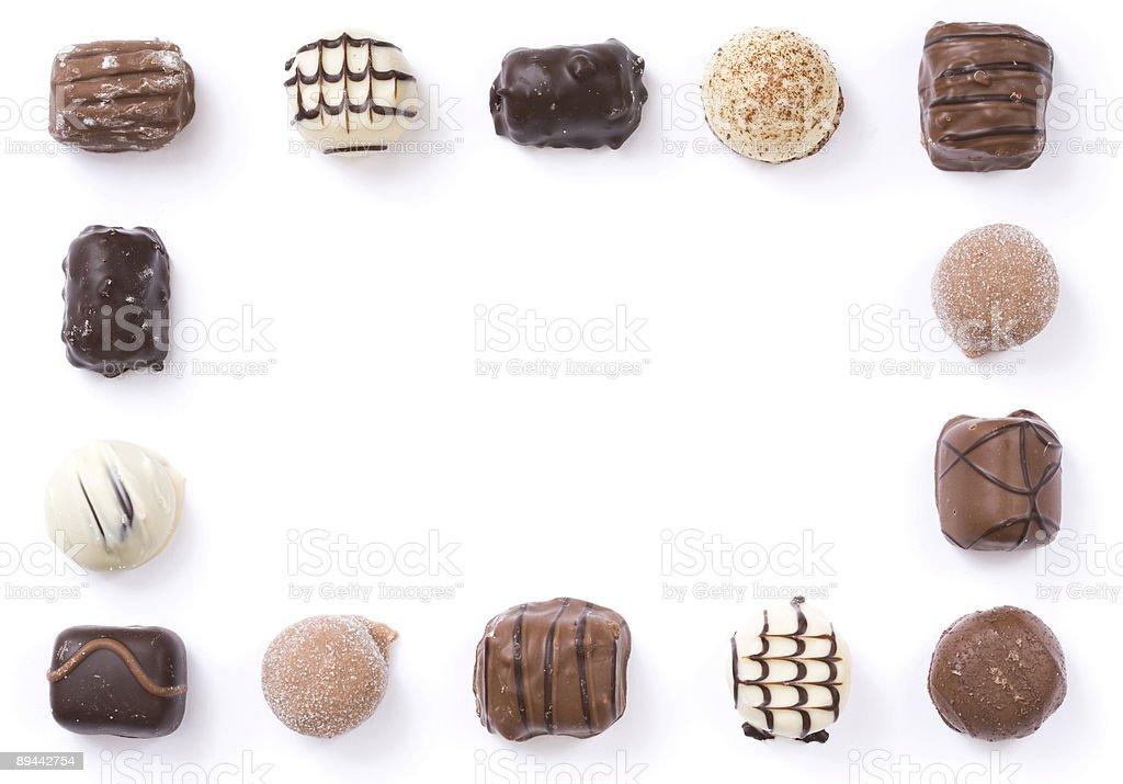 Chocolate border royalty free stockfoto