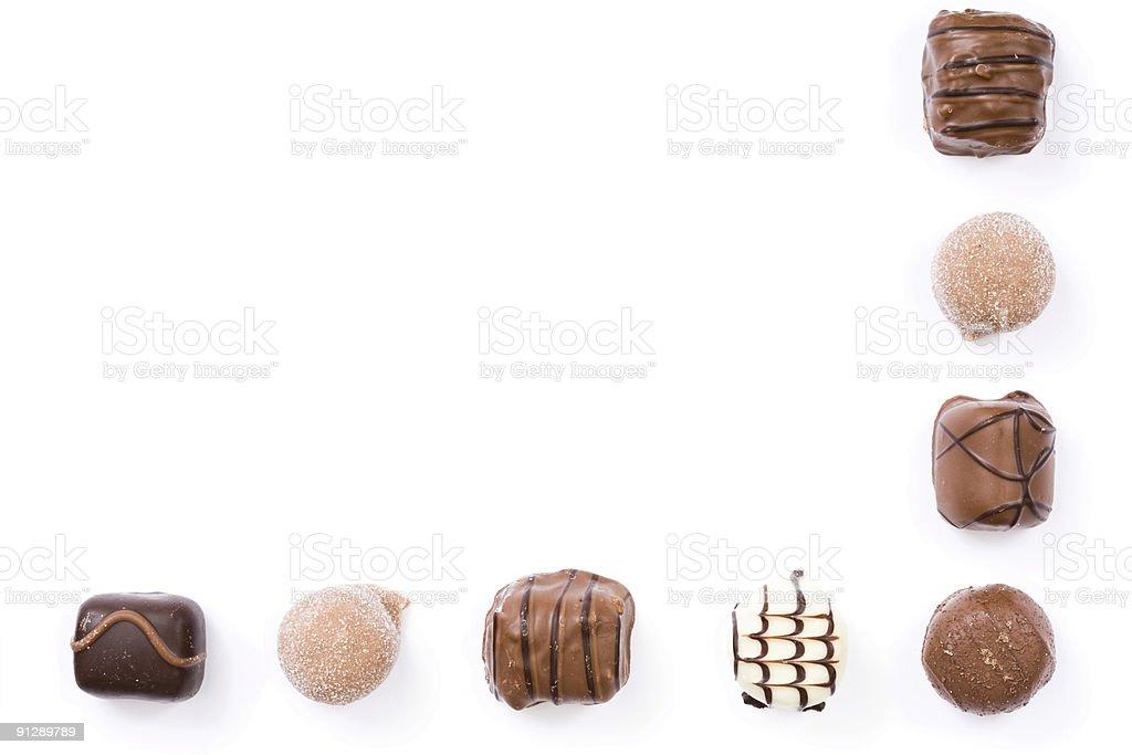 Chocolate border royalty-free stock photo