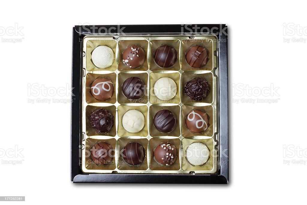 Chocolate box isolated on white royalty-free stock photo