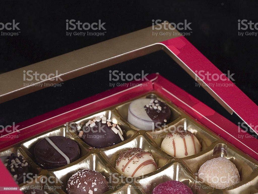 Scatola di cioccolatini foto stock royalty-free