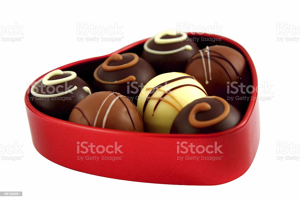 Chocolate box (with path) royalty-free stock photo