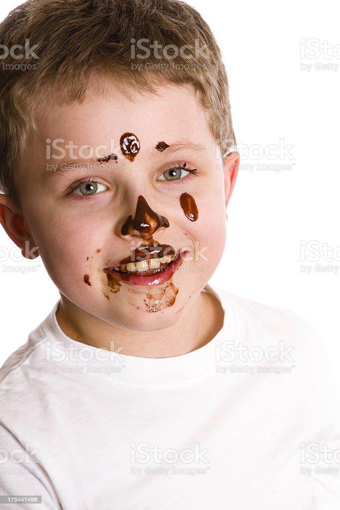 chocolate boy royalty-free stock photo