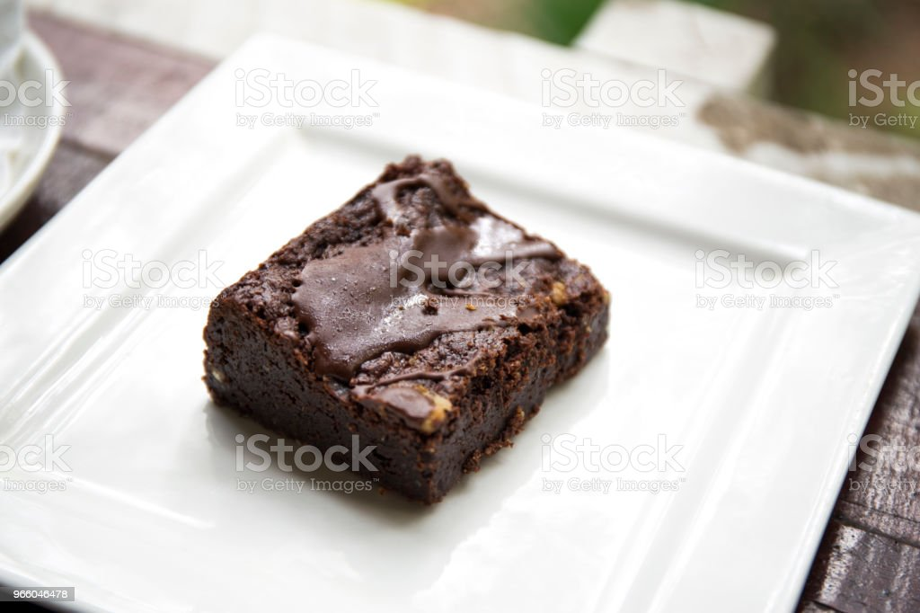 Chocolate brownie dessert - Royalty-free American Culture Stock Photo