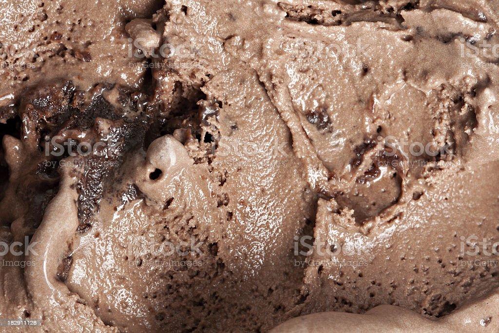 Chocolate Brownie Ice Cream stock photo