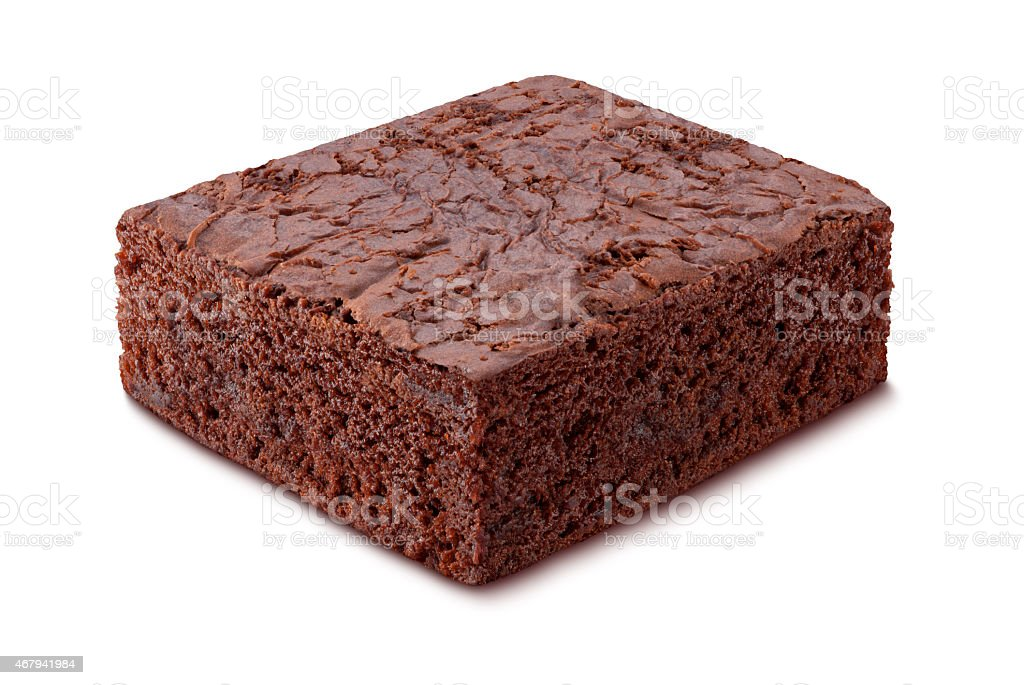 Schokoladen-Brownie Isoliert – Foto