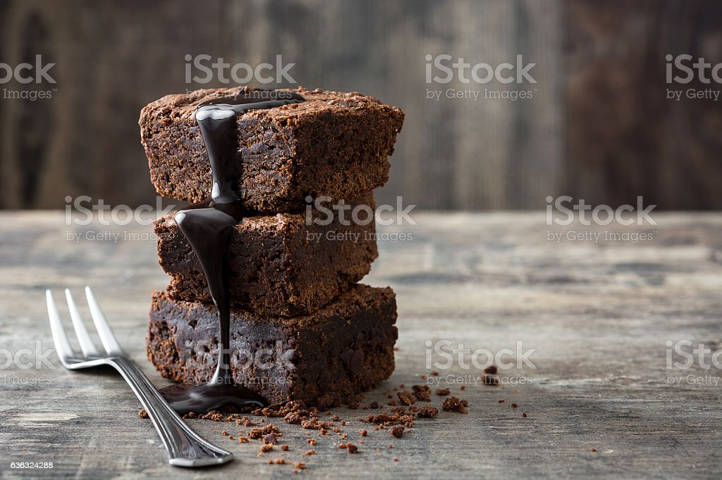 Chocolate brownie portions – Foto